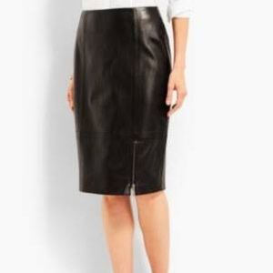 NWT Talbot's Black Leather Skirt Sz 10